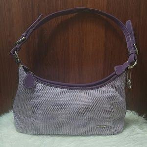 The Sak lavender knit/crochet shoulder bag